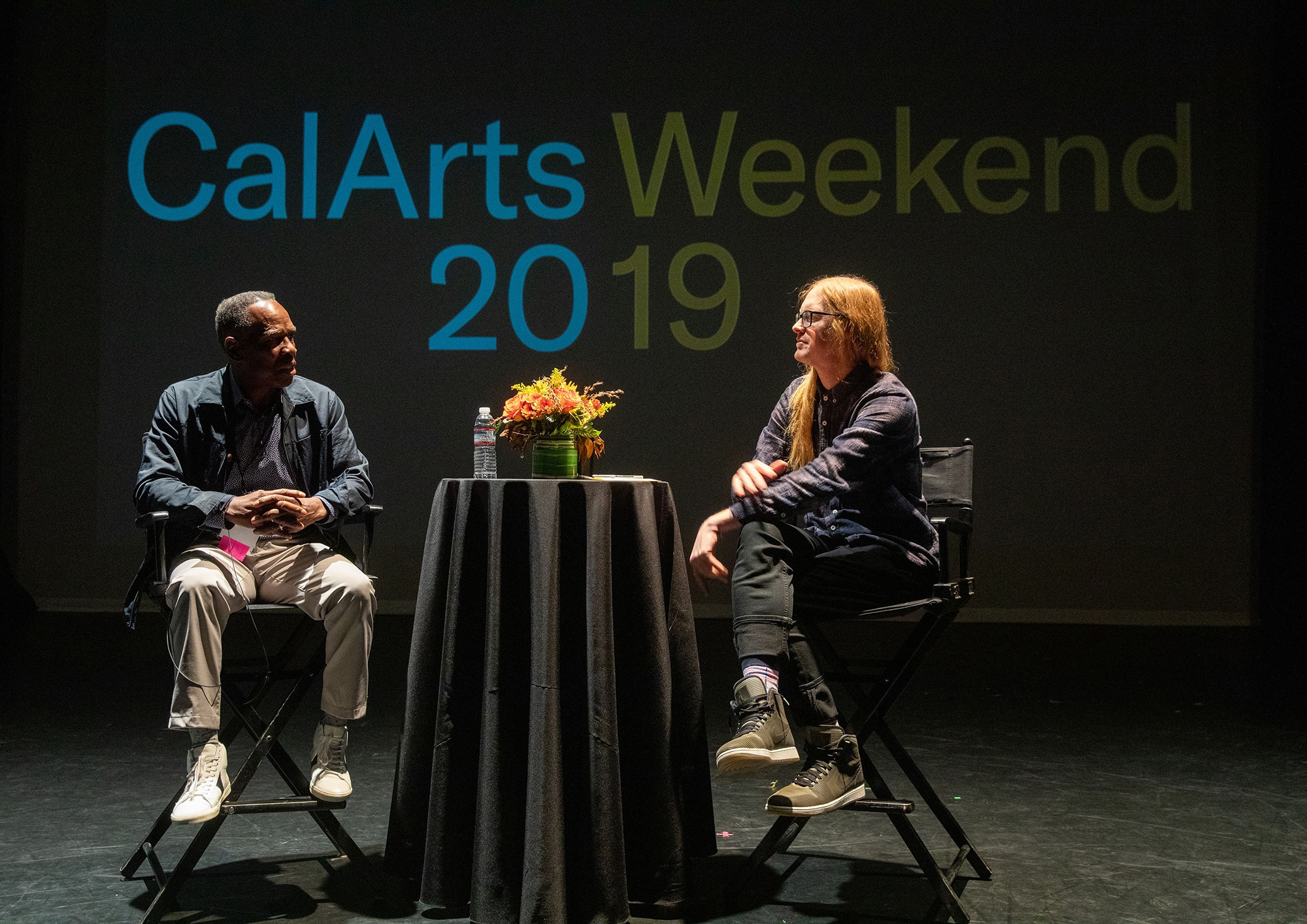 CalArts Faculty members Charles Gaines and Michael Ned Holte in conversation