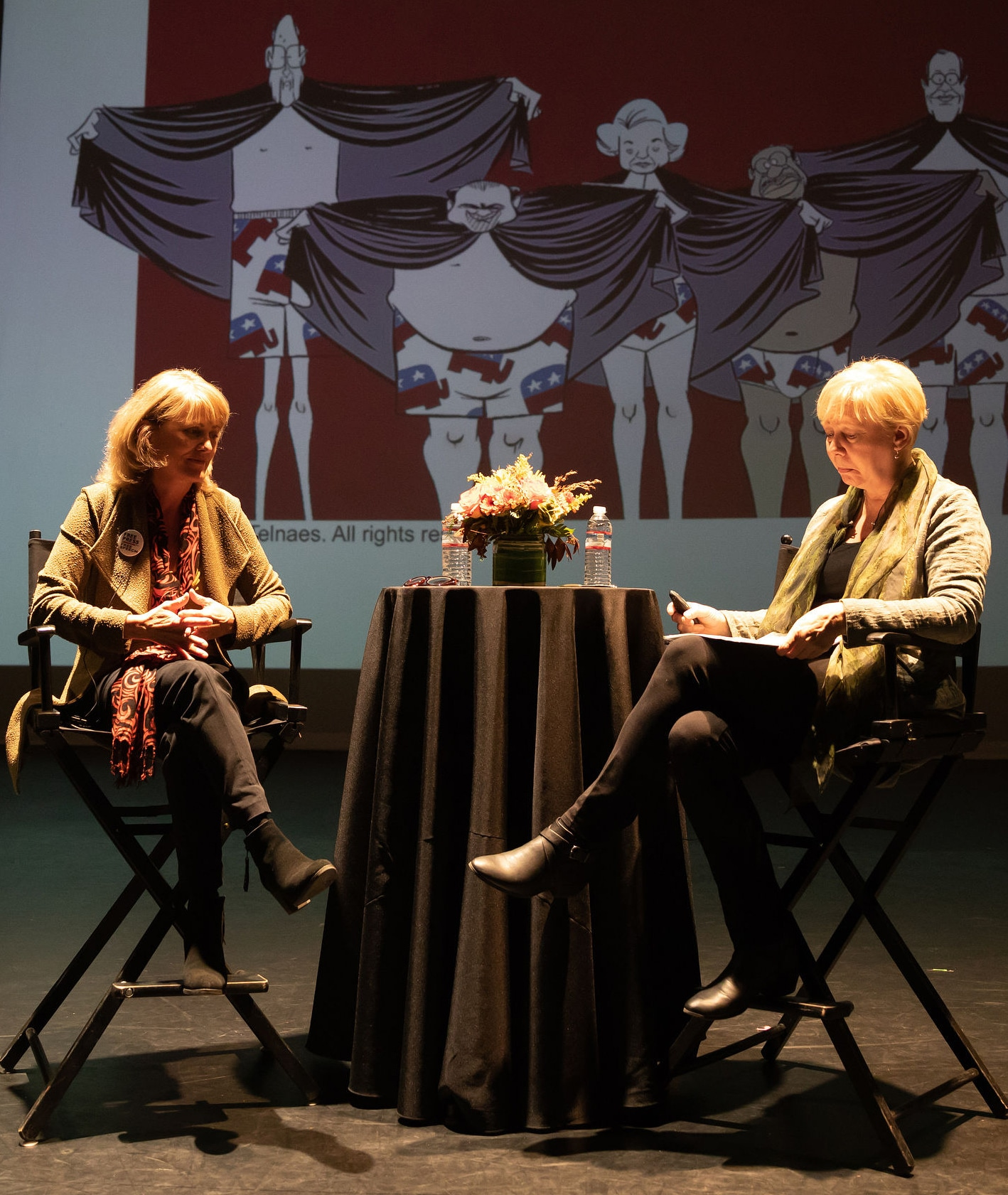 Ann Telnaes (Film/Video BFA 85) in conversation with CalArts faculty member Mindy Johnson