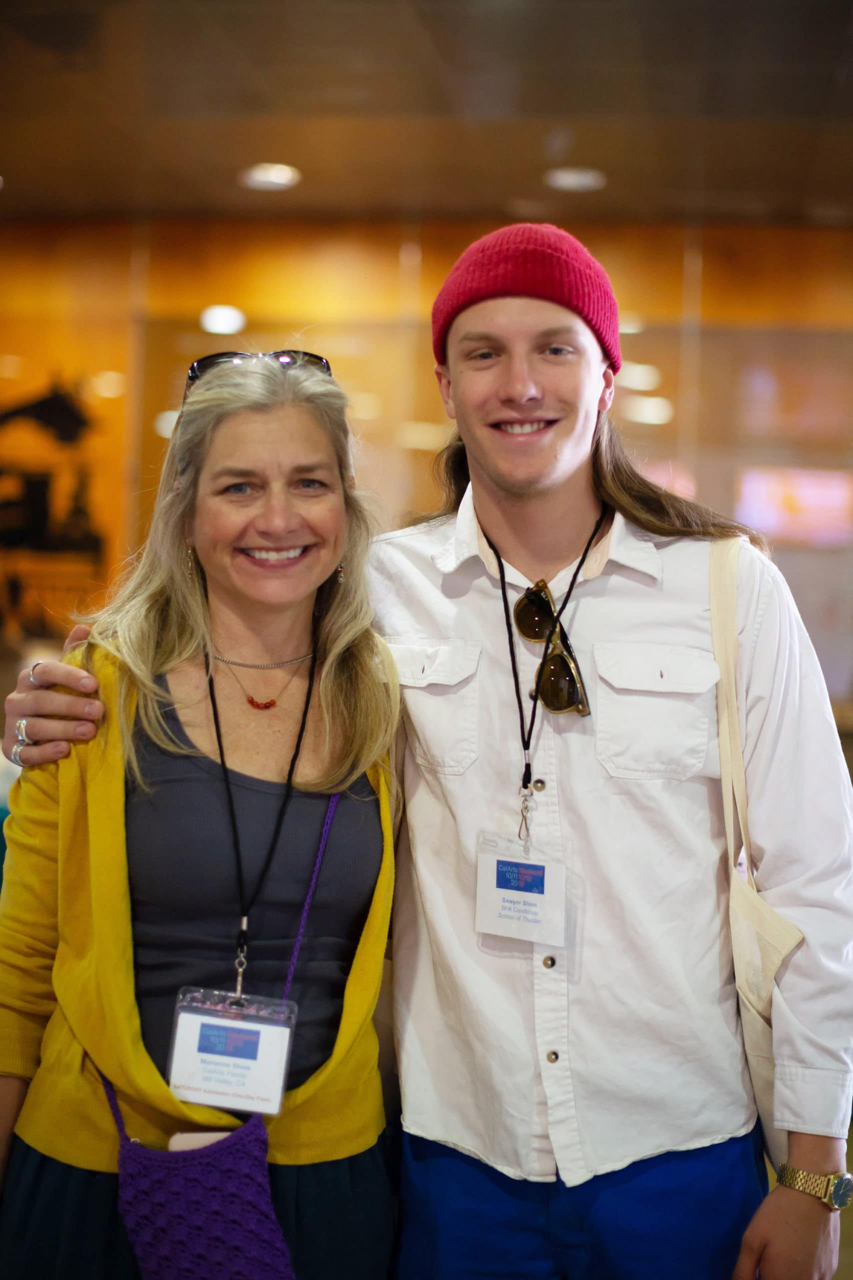 Sawyer Shine (BFA Candidate) with his parent, Marianne Shine