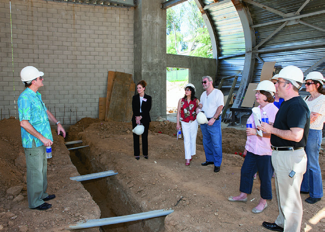 CalArts School of Music - David Rosenboom leads a tour of construction of the Wild Beast ampitheater