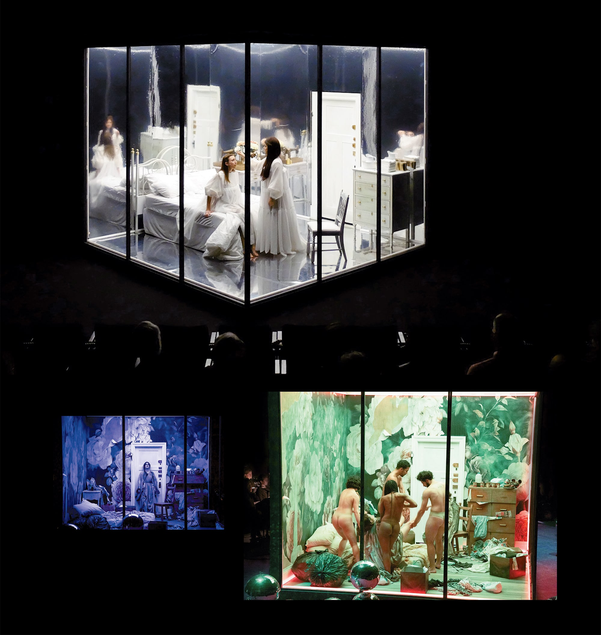 Scenes from Los Angeles Opera's production of prism.
