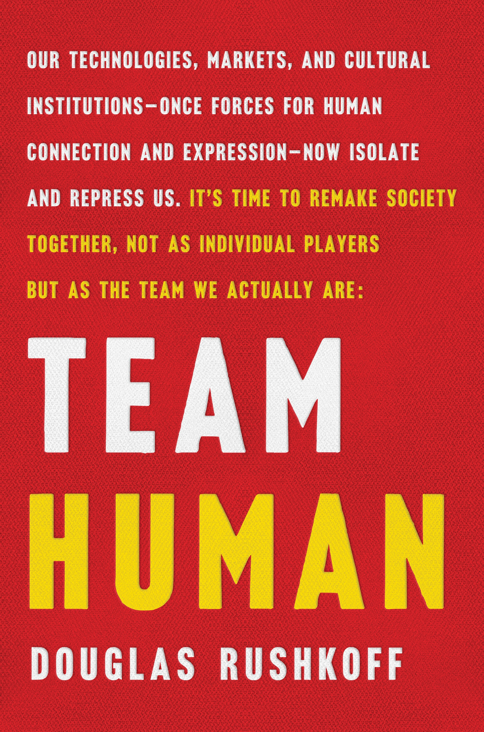 Team Human by Douglas Rushkoff Book Cover