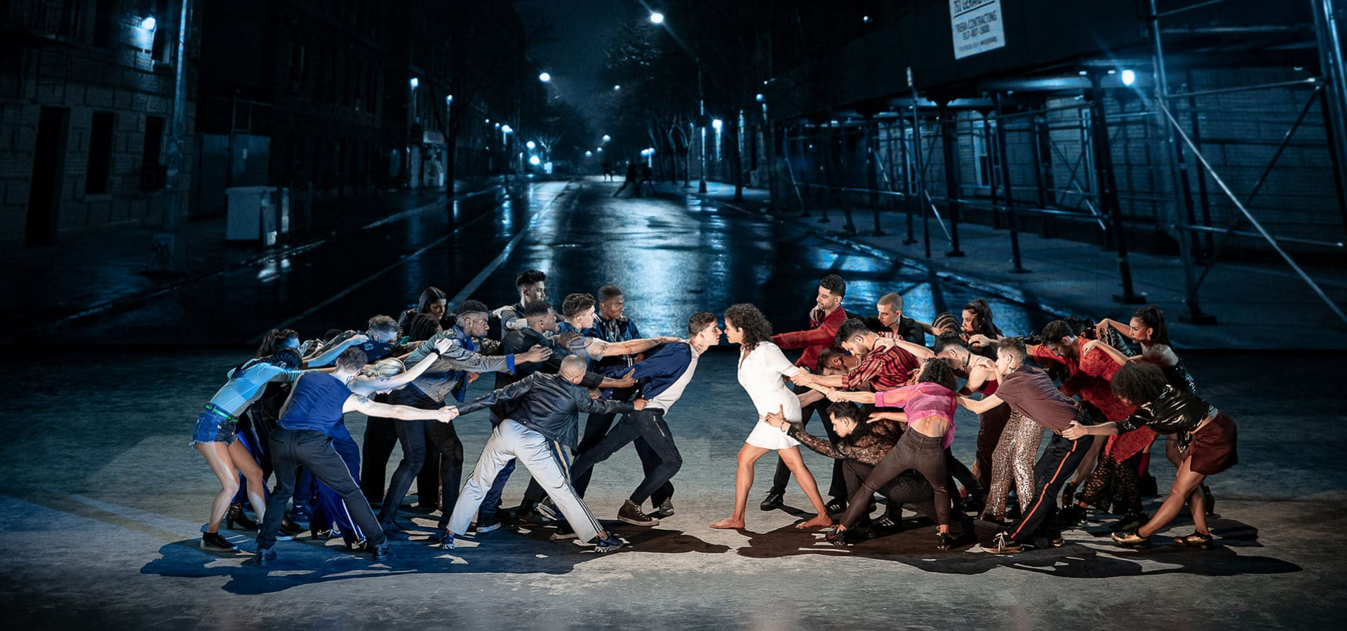 The cast of West Side Story in an updated version of the classic '50s musical.