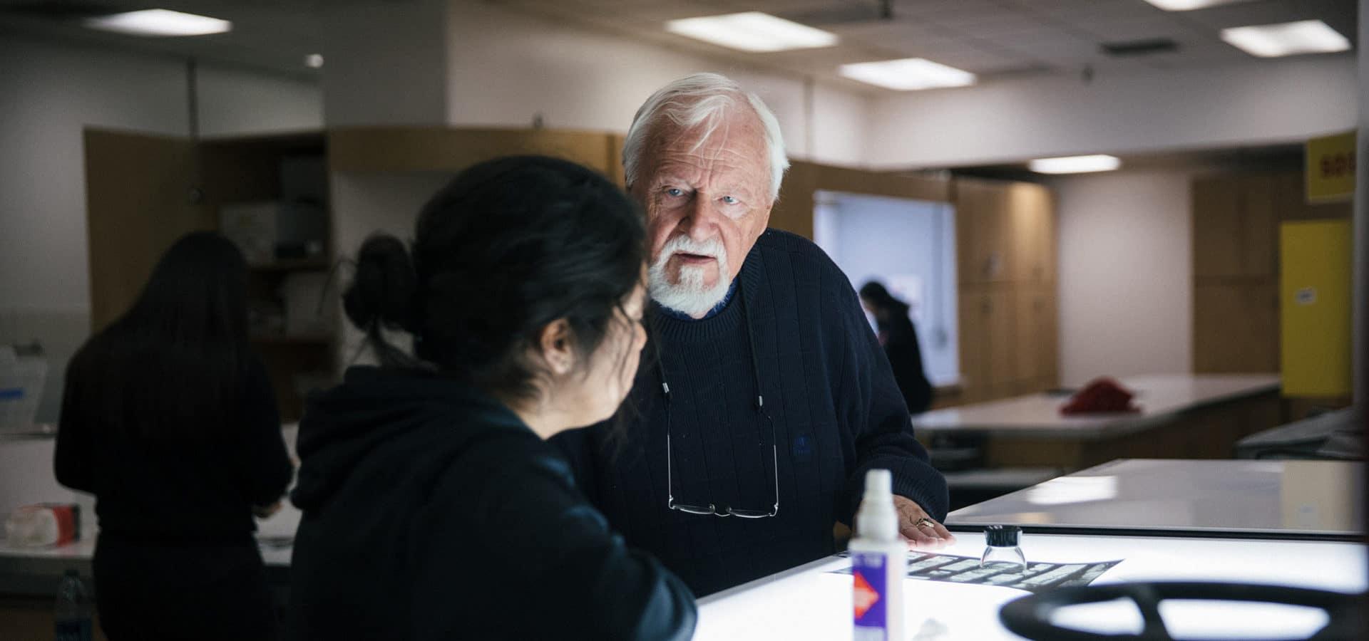 John Bache at Community Arts Partnership Saturday Photography Class.