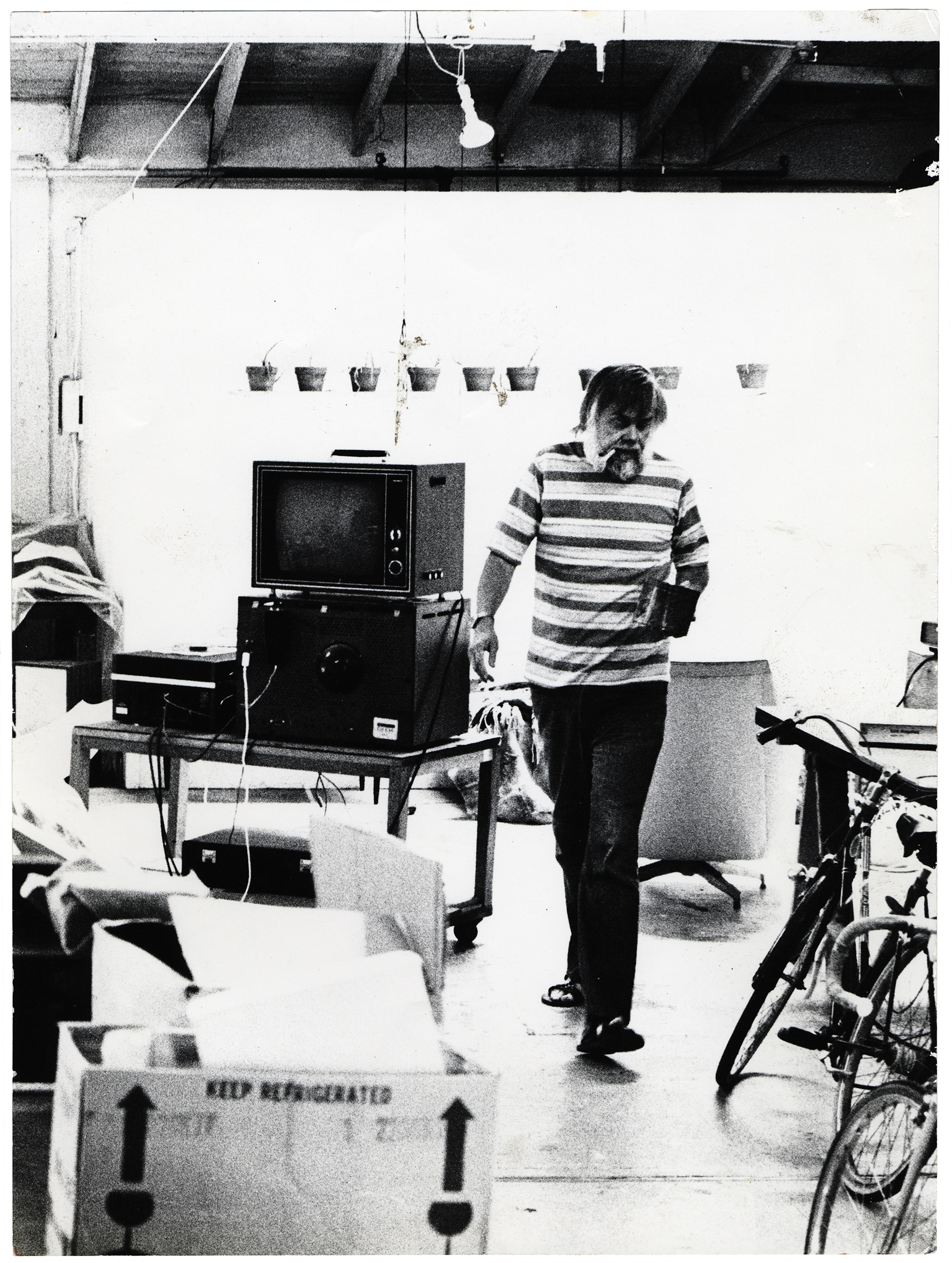 John Baldessari in his studio, 1976.