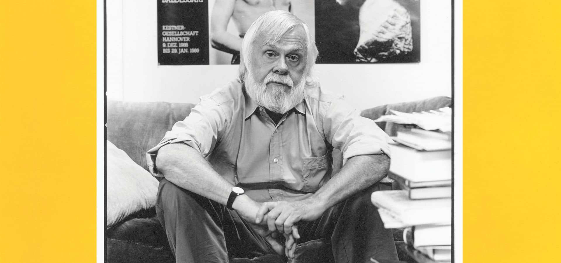 John Baldessari in his studio in the '90s.