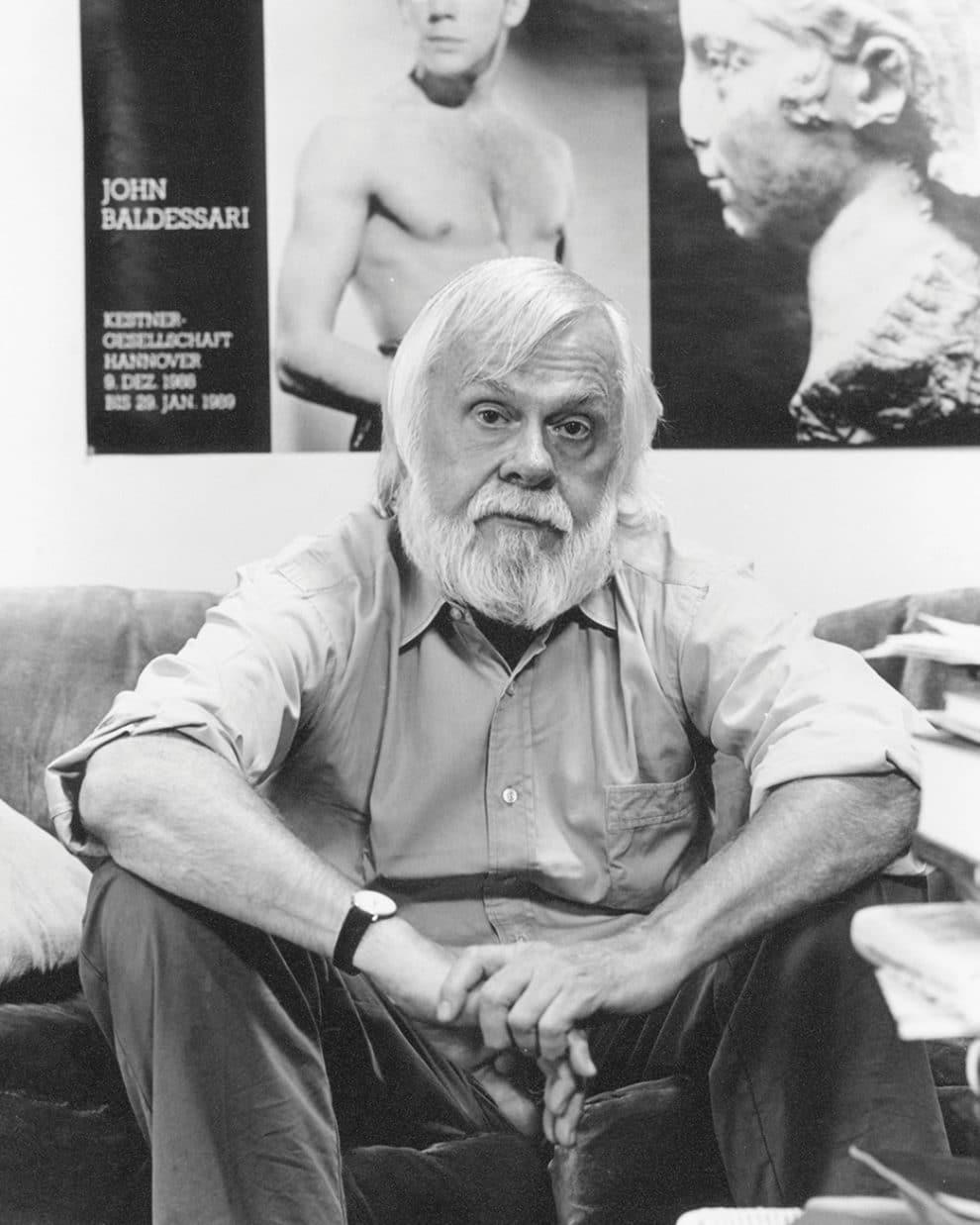 John Baldessari in his studio in the '90s.