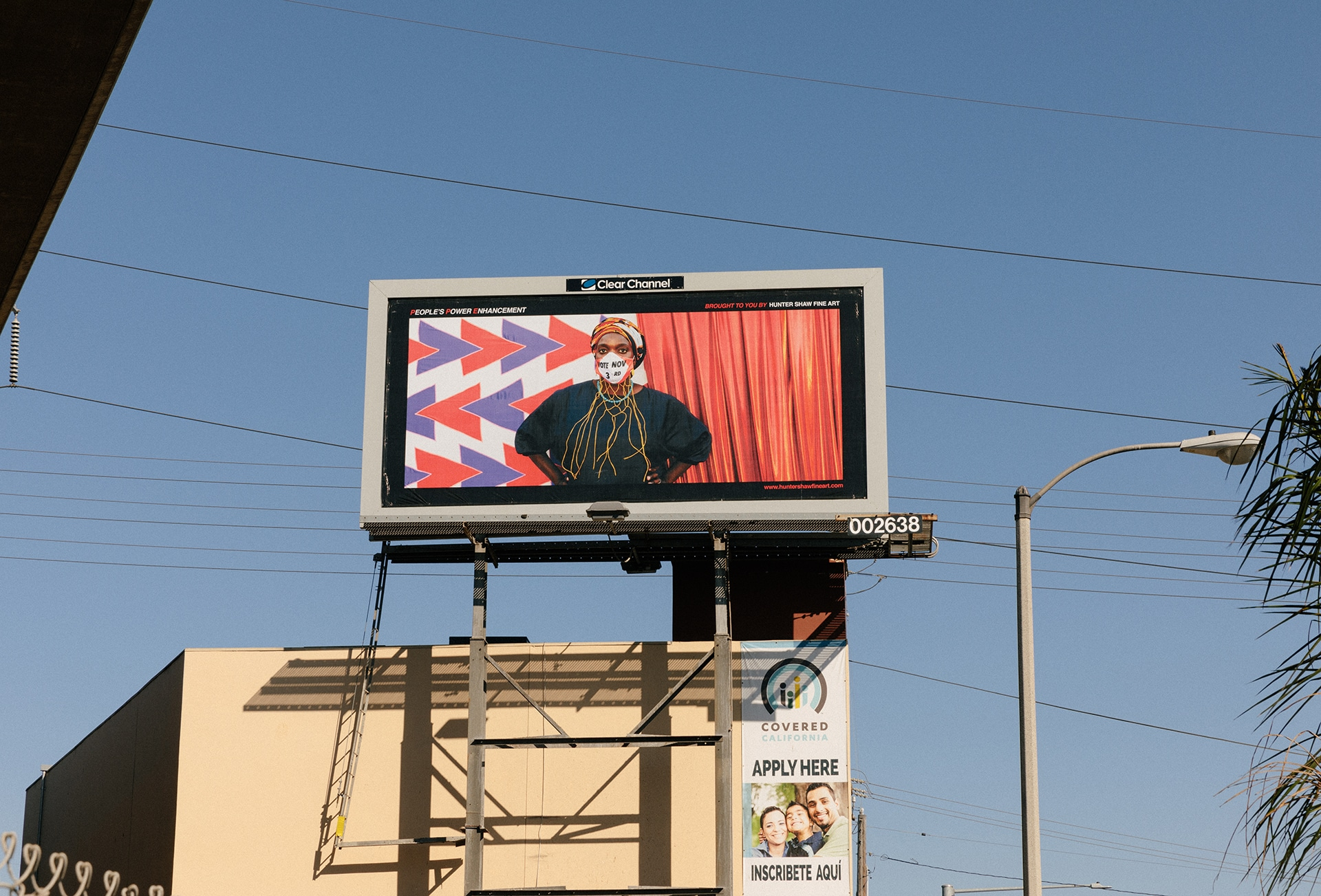 PPE • People's Power Enhancement billboard. | Photo: Courtney Coles.