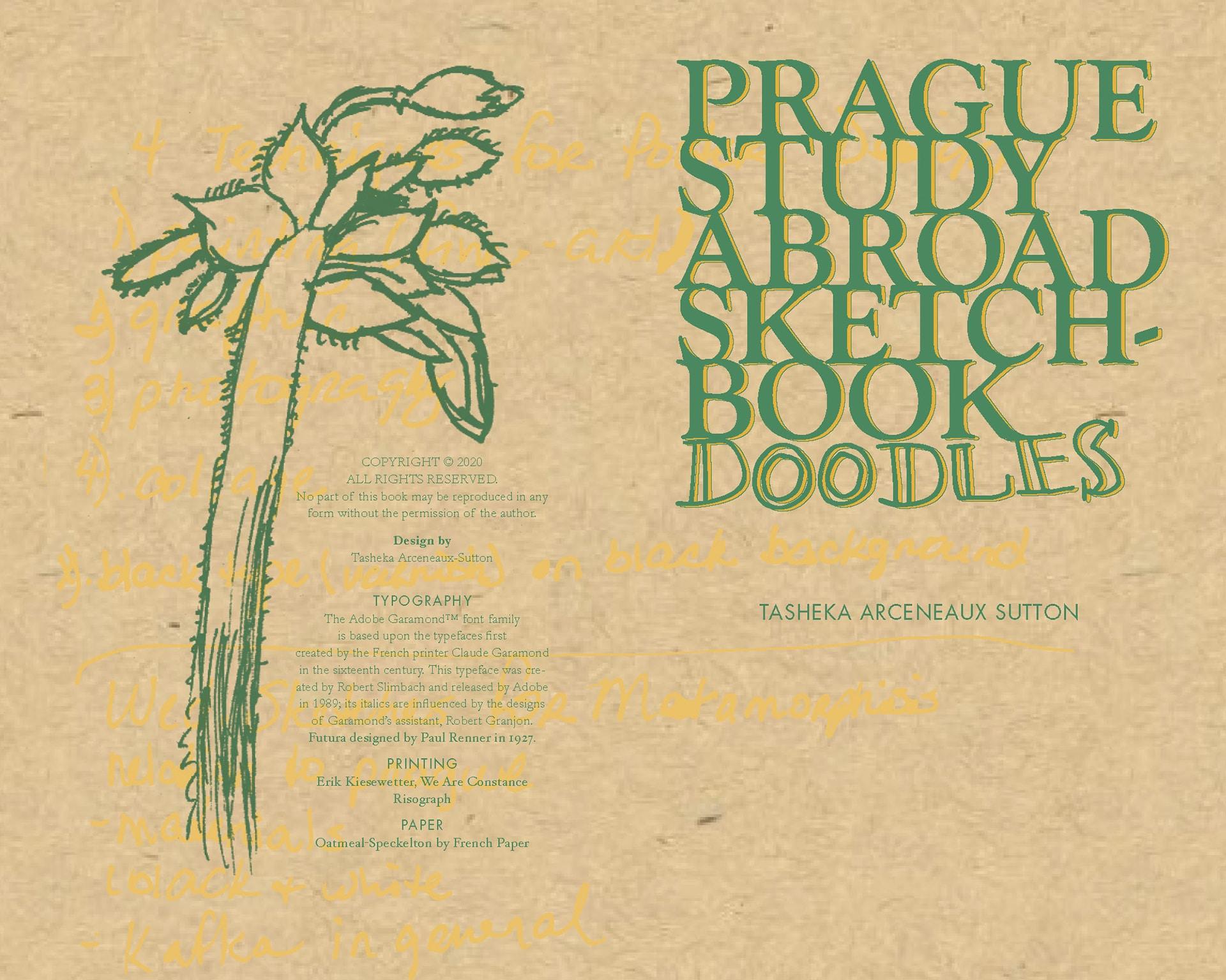 Prague Study Abroad Sketch Book Doodles, by Tasheka Arceneaux